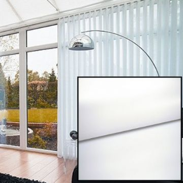Made to Measure Blackout Vertical Blinds in PVC White With Heat Reflective Coating